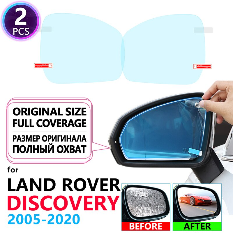 Cubierta completa Anti niebla película espejo retrovisor para Land Rover discovers 3 4 5 2005 ~ 2020 LR3 LR4 LR5 accesorios L319 L462 2017 2018