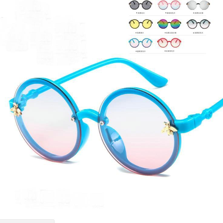 2021 Fashion Round Kids Sunglasses Boys Girls Vintage Sun Glasses UV Protection Classic Children Eye