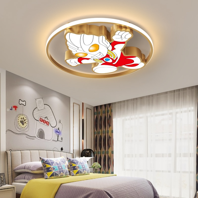 Ultraman-Lámpara led inteligente para decoración del hogar, luces de techo para habitación,...