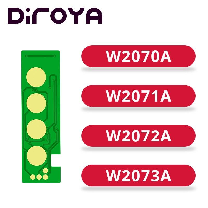 Nuevo W2070A W2071A W2072A W2073A 117A chip de cartucho de tóner para HP Color láser 150 150a 150w 150nw MFP 178 178nw 179 179fnw
