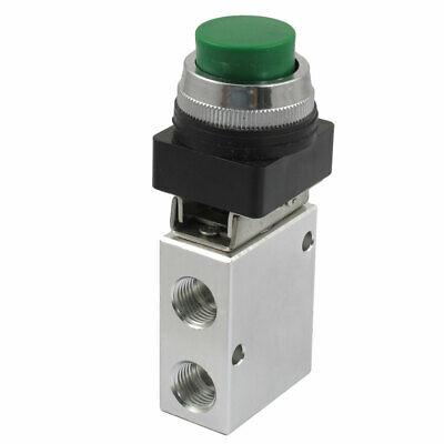JM-322PPL 13mm linha 2 posição 3 vias botão de pressão verde ar válvula mecânica