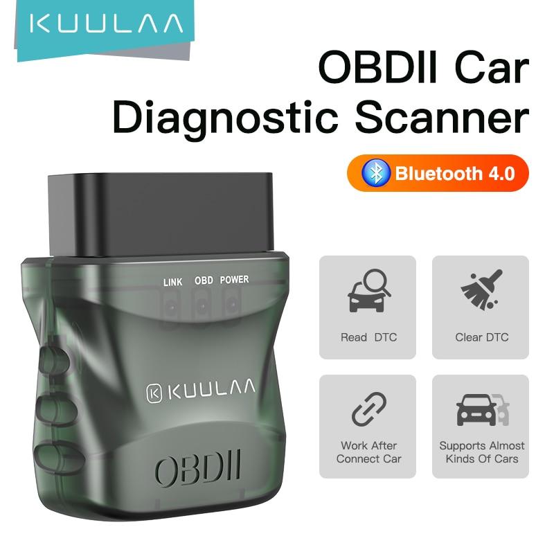 Автомобильный диагностический сканер KUULAA ELM327 V1.5 OBD2, Bluetooth 4,0, OBD 2, для IOS, Android, ПК, сканер ELM 327, устройство чтения OBDII Диагностические сканеры для автомобиля      АлиЭкспресс