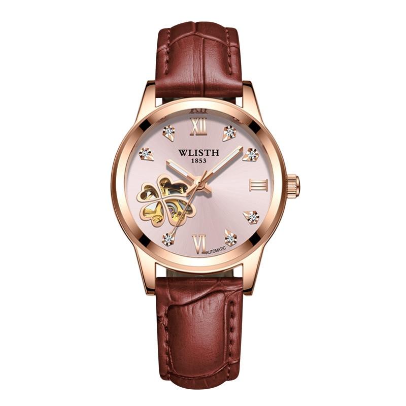 Ladies Watch Hollow Fully Automatic Mechanical Watch Luminous Waterproof Fashion Watch Women's Watch enlarge