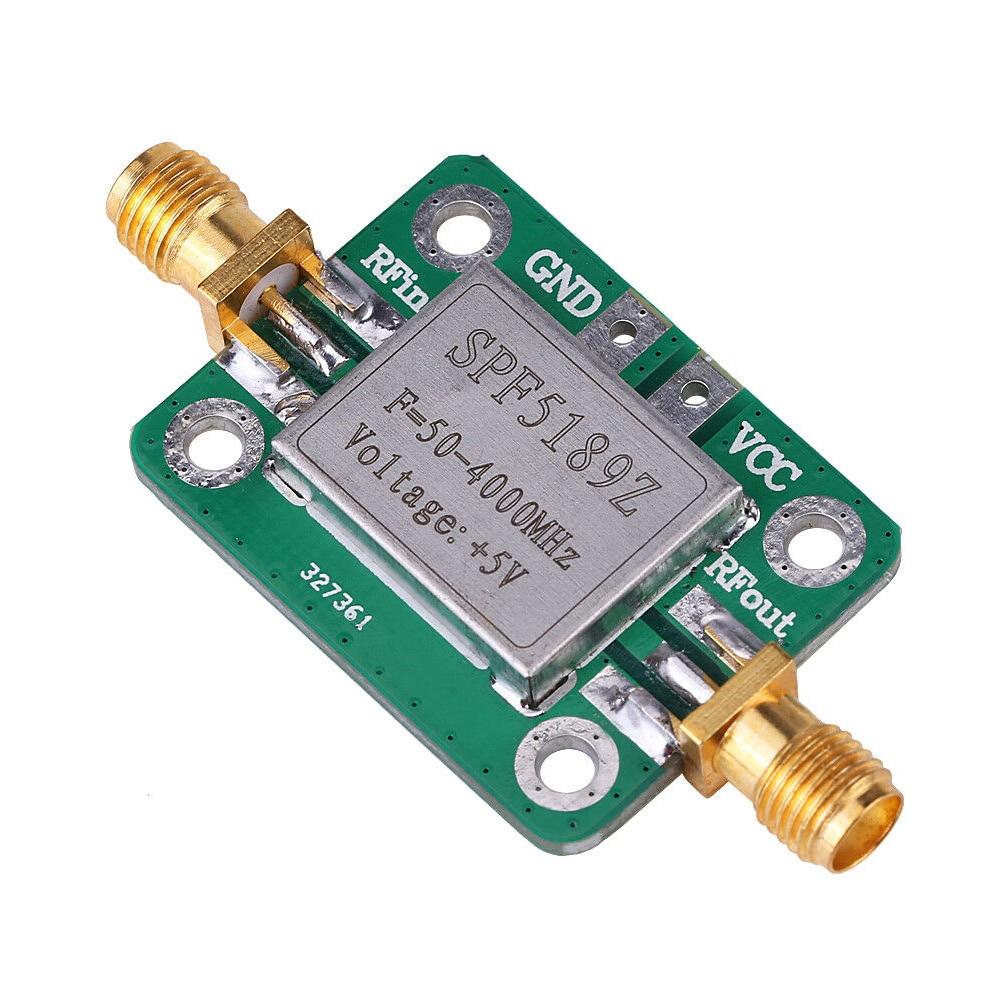 Spf5189 de baixo nível de ruído de frequência de rádio de banda larga uso largo rf prático lna 50-4000 mhz módulo amplificador de banda larga receptor de sinal