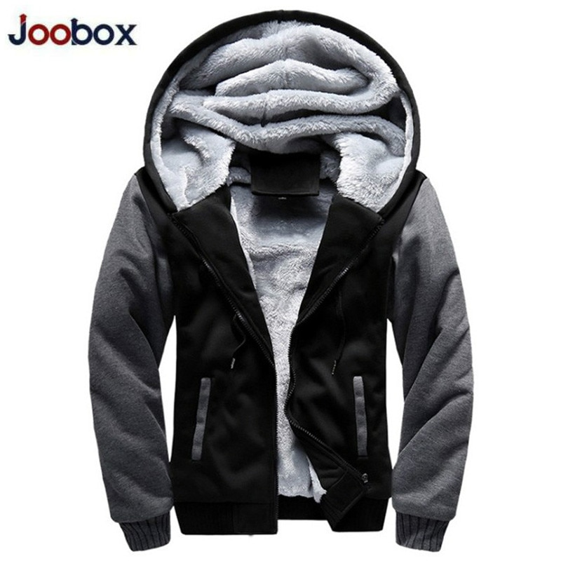 Chaqueta con capucha para hombre, de invierno, gruesa, cálida, con forro polar y cremallera, sudadera para hombre con empalme, ropa de calle para hombre, chaqueta Bomber Dropshipping 2019