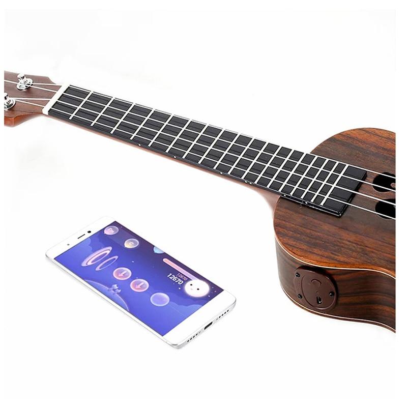 18 te preocupes palo de rosa inteligente ukelele de 23 pulgadas de 4 cuerdas de Populele ukelele concierto Soprano apoyo APP Mini Guitarra, guitarra Instrumentos Musicias