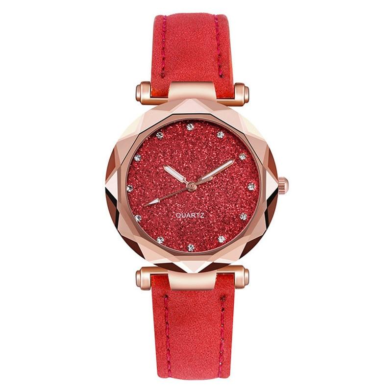 YUNAO New Minimalist Ladies Starry Sky Watch Frosted Belt Watch Diamond Net Red Quartz Watch 2021 New Casual Female Watch enlarge