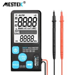 "Ultra-portátil multímetro digital mestek grande 3.5 ""display lcd voltímetro ac dc tensão ncv resistência ohm hz testador como adms7"