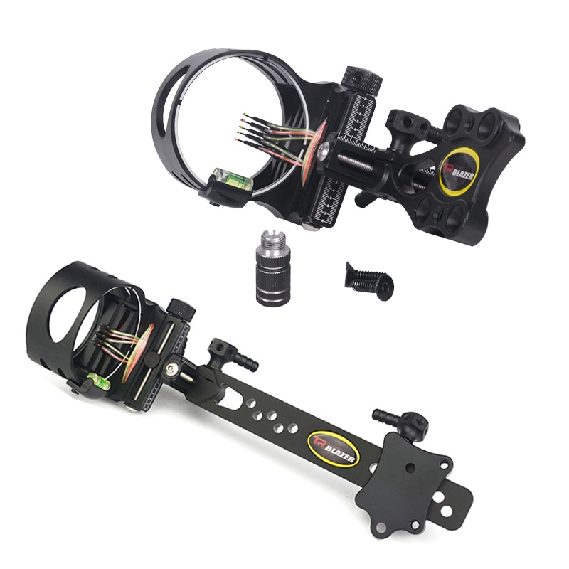 compound bow micro adjust 5 pin sight bow and arrow hunting sight scope right left hand shooting archery aiming accessories Hot sale rofessional Archery 1 Pin Bow Sight Micro-adjust Arrows for bow Hunting Compound Bow Sights Archery Accessories