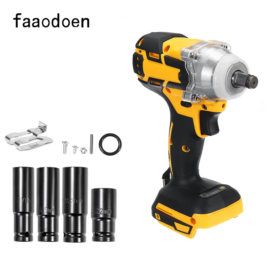 18V 520N.m Brushless Impact Wrench Cordless Electric Wrench Torque Rechargeable For Makita Battery Home DIY Power Tool