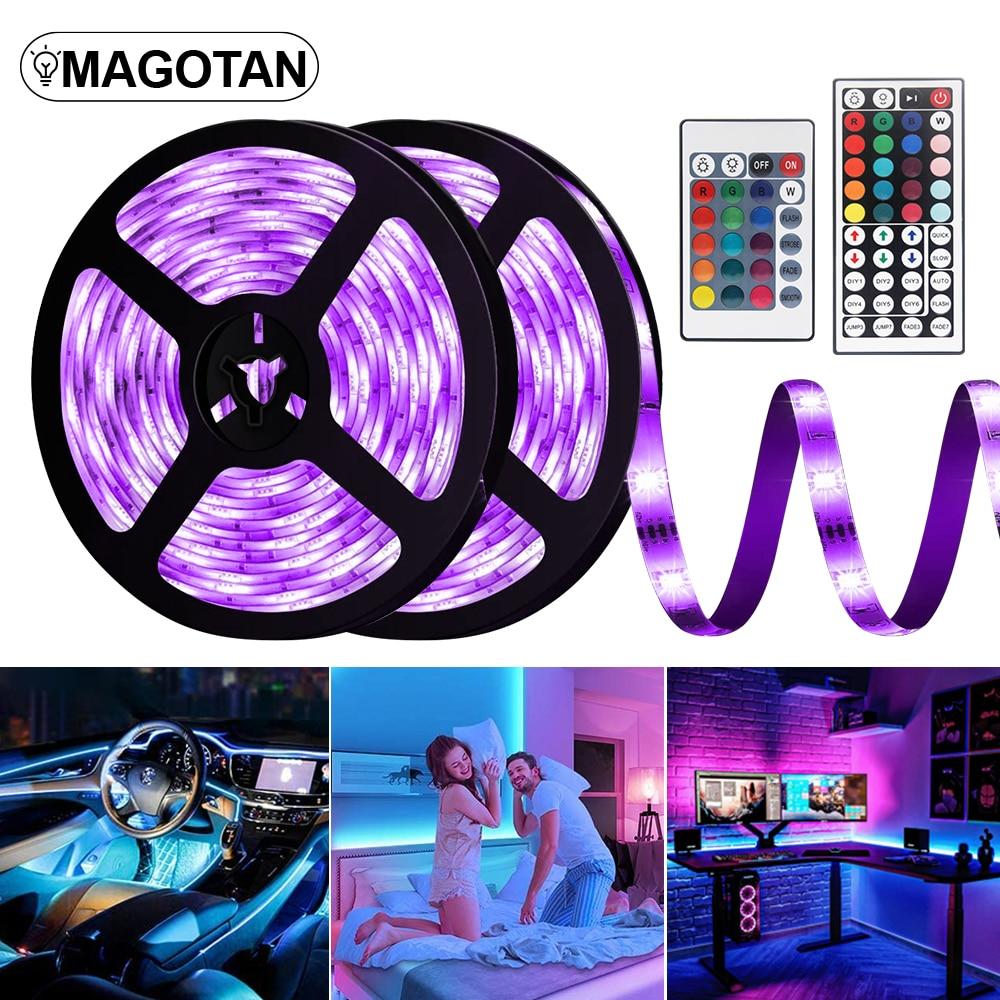 Светодиодные ленты огни RGB Светодиодные ленты 5050 SMD DC12V Водонепроницаемый Светодиодная лампа Диодная лента гибкие светодиодные огни номер Д...
