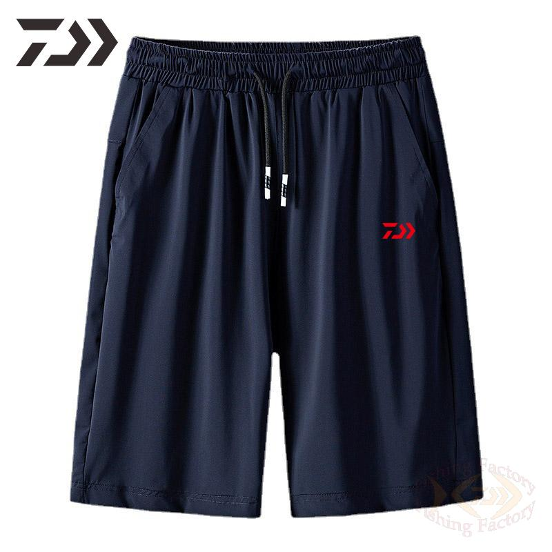 Летняя одежда Daiwa для рыбалки 2021, дышащие удобные шорты, тонкая одежда для рыбалки, Спортивная повседневная эластичная одежда для рыбалки