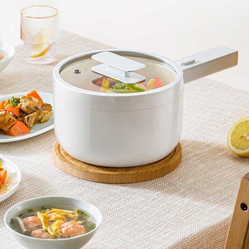 Электрическая кастрюля для приготовления пищи, портативная кастрюля для горячего приготовления, 700 Вт, рисоварка, мультиварка, керамическа...
