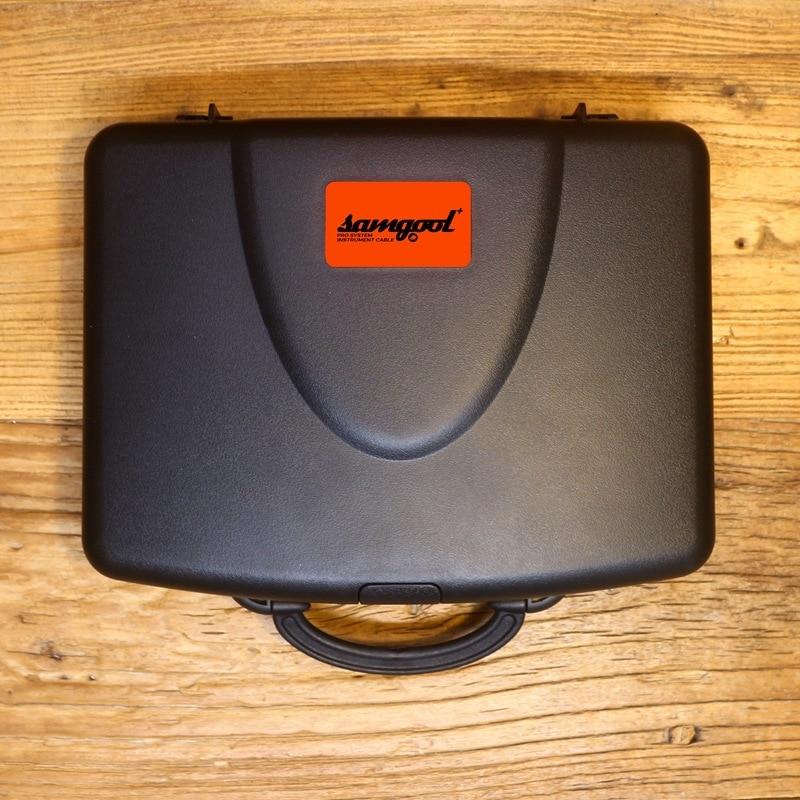 Samgool + caja de recepción de cable de guitarra cable de audio portátil línea de protección efecto caja de aire caja de vuelo