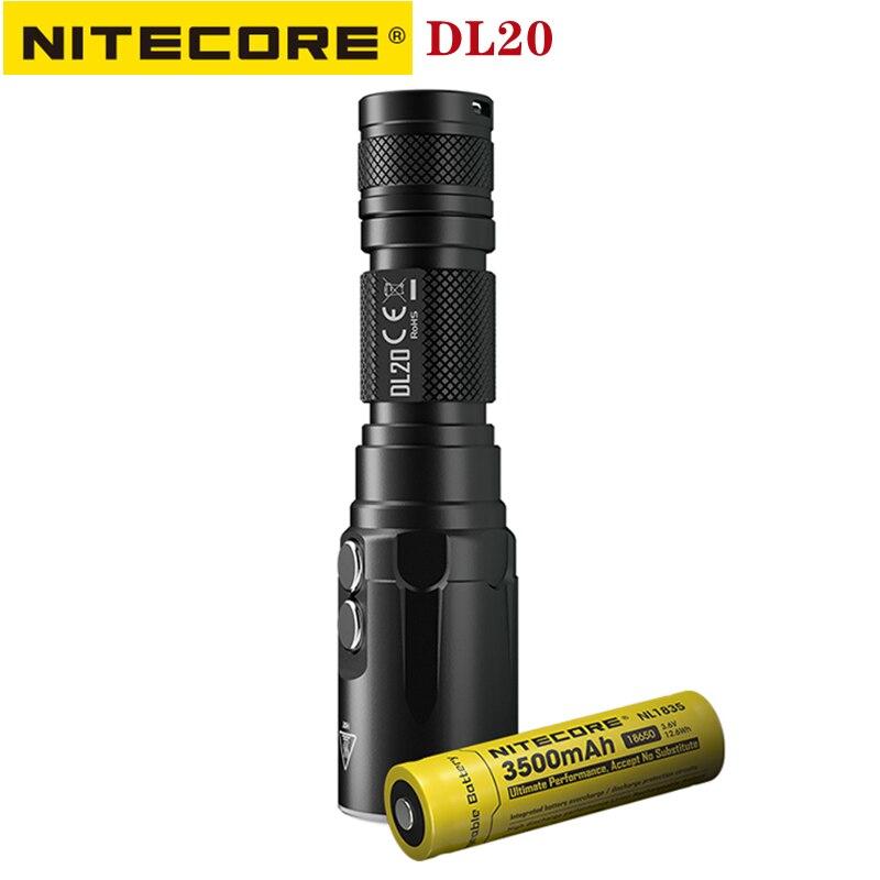 nitecore dl20 mergulho lanterna 1000lumens branco vermelho luz ipx8 classificacao