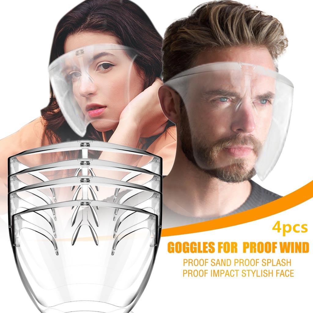 2/4/10pcs Hygiene Safety Face Shield Plastic Visor Protective Anti-Fog Anti-Splash Transparent Food Face Shield For Mouth Nose