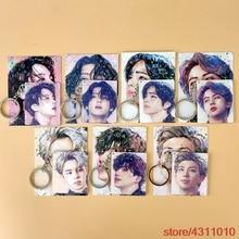Kpop Bangtan garçons porte-clés Jimin Jin Suga Jhope Junkook V RM art peinture impression porte-clés porte-clés pendentif pour sac clé de voiture usb