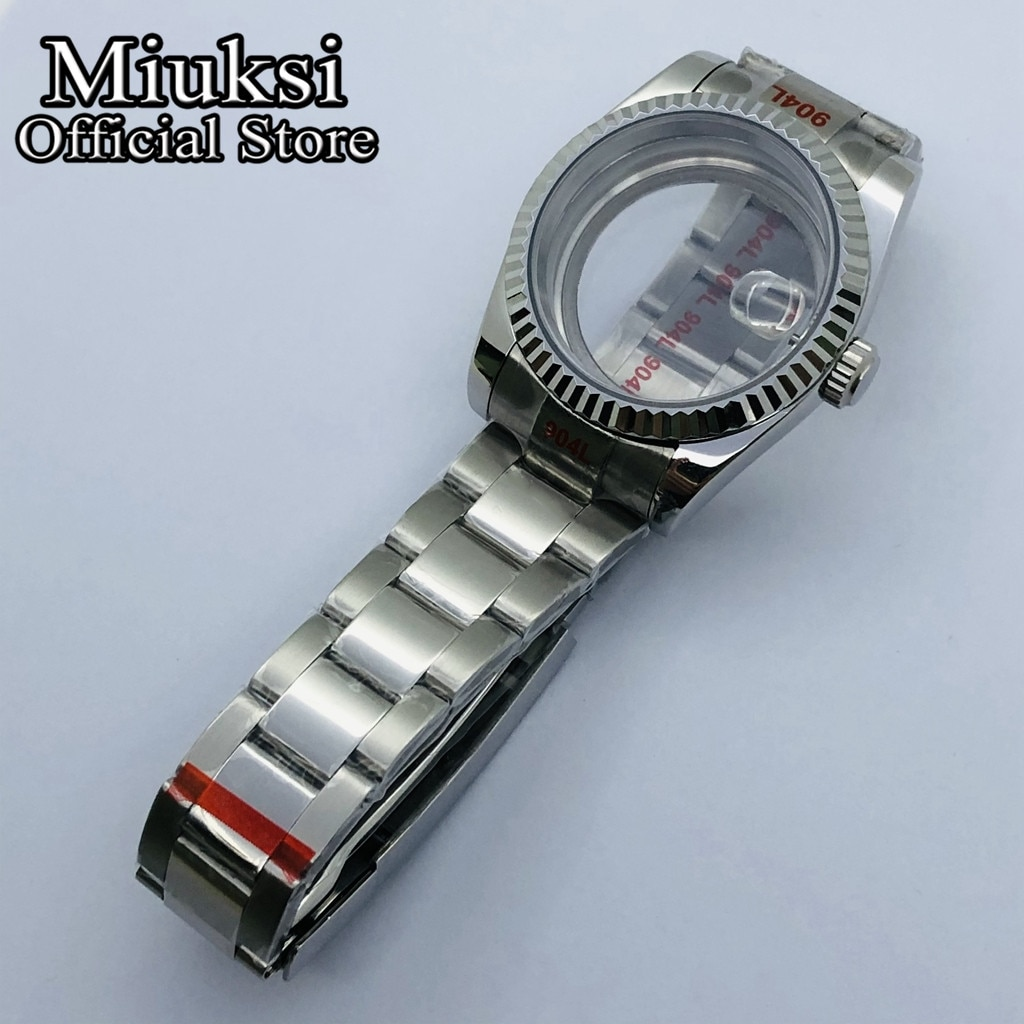 Miuksi 36mm/40mm case sapphire glass date window fit NH35 NH36 ETA2836 Miyota 8205 8215 821A Mingzhu DG2813 3804 movement enlarge
