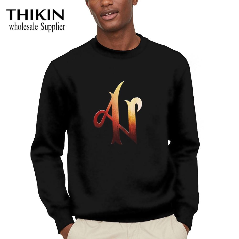 THIKIN Adexe & Nau Printing Women Sweatshirt Long Sleeve Blouse Sweatshirt O-Neck Pullover Top Pop Clothes Sudaderas Mujer