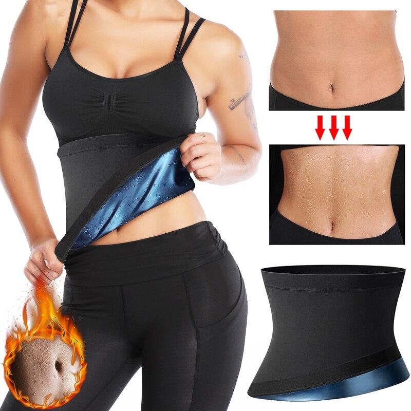 Polymer Waist Trainer Fitness Body Shaper Women Slimming Sheath Sweat Tummy TrimmerModeling Belt Sauna Corset Top Shapewear
