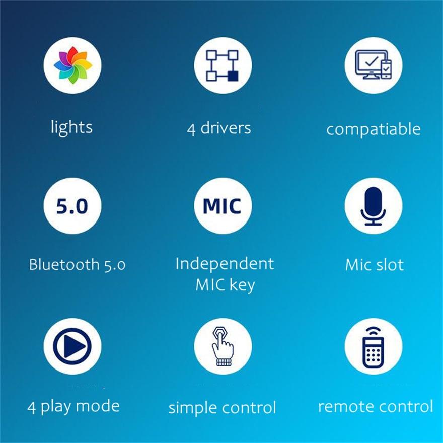 20W Hifi Speaker Blutooth Desktop Soundbar Music Center Box Smart  Column Computer Speakers With Rgb Light & Remote Control enlarge