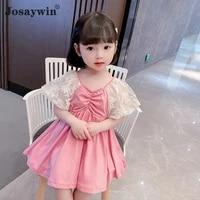 josaywin 2021 kids dress for girls mesh girl dress vestidos casual party princess toddler baby girls dresses children clothes