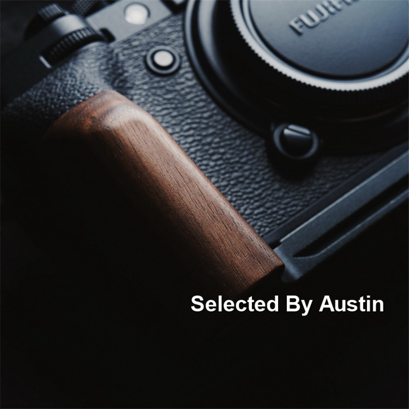 Placa de soporte de liberación rápida con empuñadura de madera para Fuji XT4 Fujifilm X T4 hecha a mano