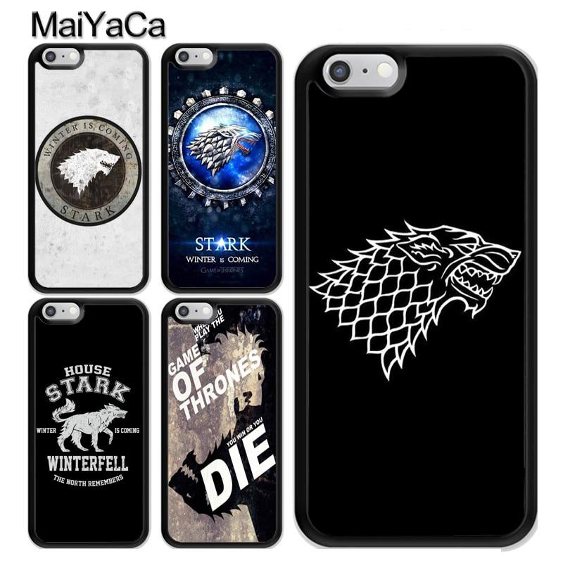 Tengo de Juego de tronos casa Stark logotipo TPU caso para iPhone 11 Pro MAX X XR XS MAX SE 2020 6 7 8 Plus 5s cubierta Coque