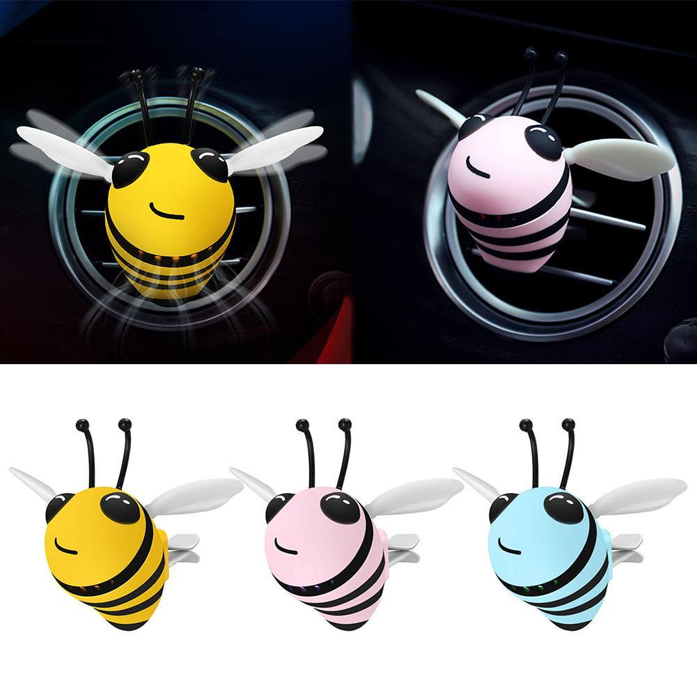 Ventilação de ar interior do carro bonito tipo abelha decorações perfume inovador fragrância ambientador titular & recipiente material abs