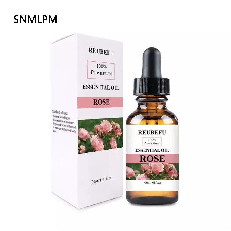 MOPOYAT Rose Essential Oil Pure Natural Aromatherapy Diffusers Oil  Air Fresh Skin Massage Oil Pure Essential Oils 30ml