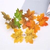 Feuilles derable artificielles pour decoration de noel  10 pieces  fausses feuilles dautomne pour mariage  decoration artisanale pour Thanksgiving