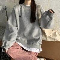 sweatshirts women pullover 2021 new pattern streetwear casual long sleeve crewneck oversized fashion hoodie korean girls s xxl