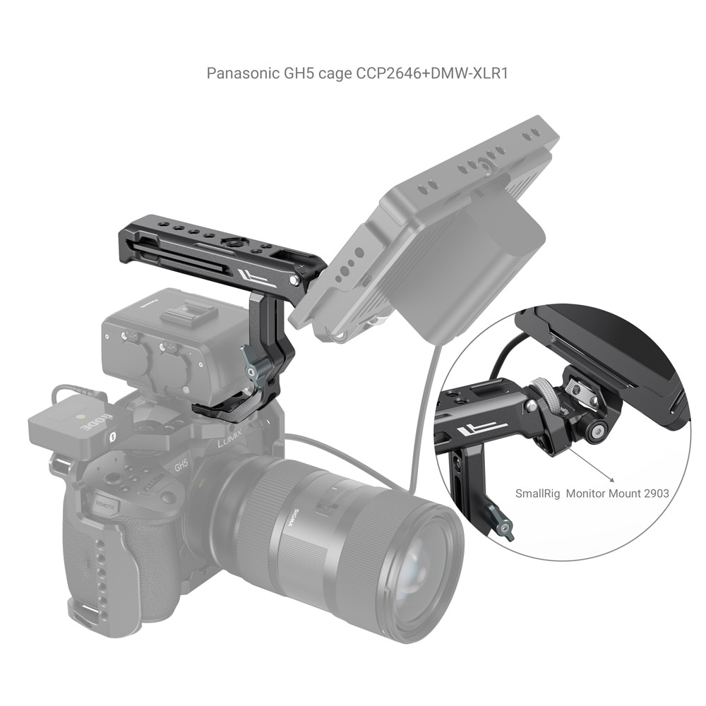 SmallRig Camera Cage Top Handle for Sony XLR-K1M / K2M / K3M and Panasonic DMW-XLR1 Adapter 3082 enlarge