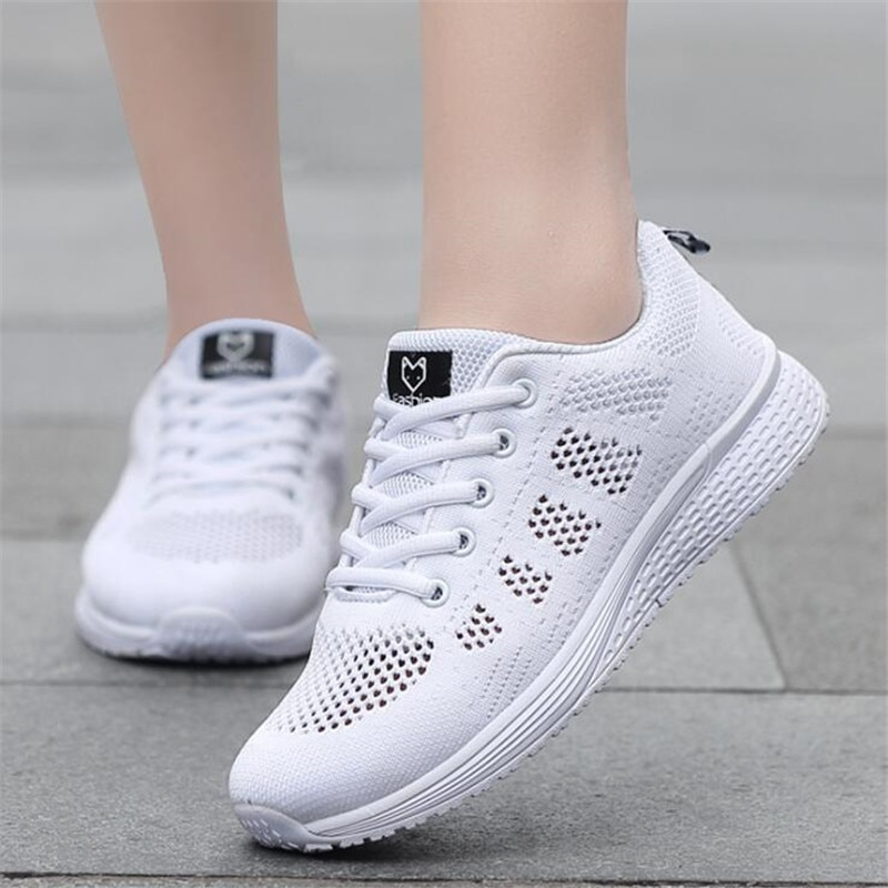 AliExpress - 2020 new Factory Direct Women Casual Shoes Fashion Breathable Walking Mesh Flat Shoes Sneakers Women Gym Vulcanized Tenis