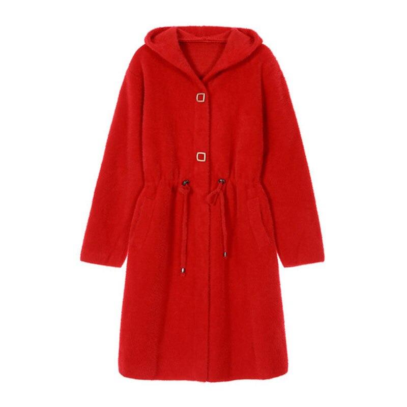 WYWAN-معطف شتوي نسائي فضفاض ، معطف متوسط الطول سميك ، مقاس كبير ، 4 ألوان ، مجموعة جديدة 2020