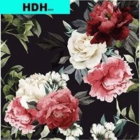 multicolor floral peel and stick wallpaper black background vintage flower contact paper vinyl self adhesive vintage wall paper