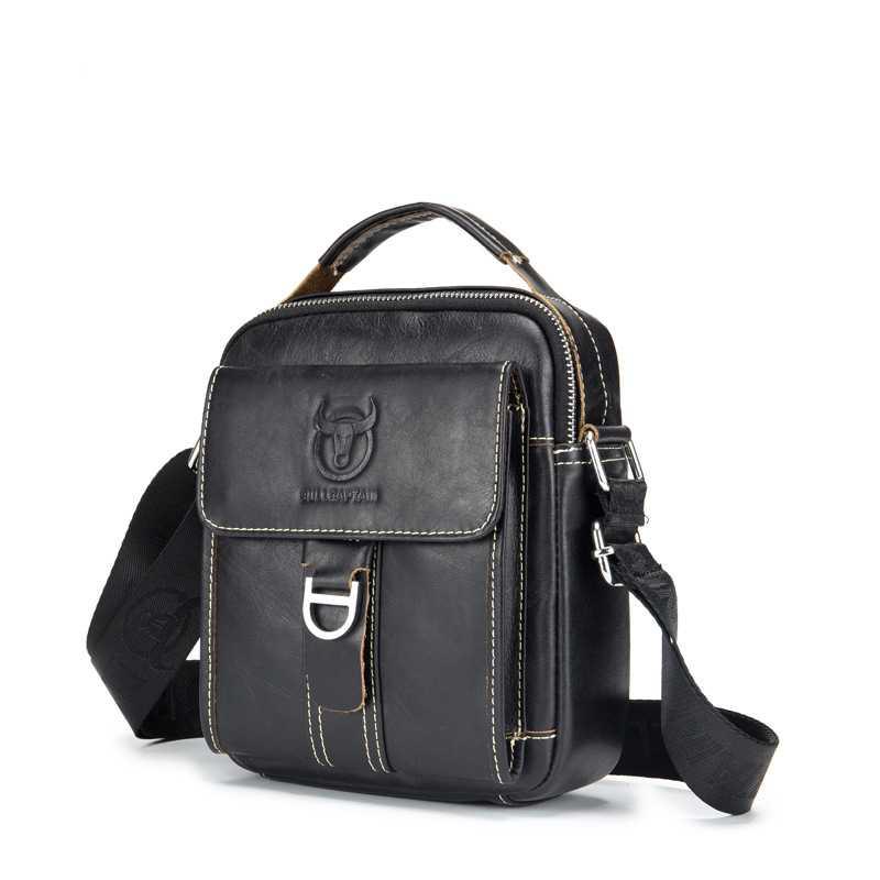 Casual Men Shoulder Bag Capacity Messenger Bag for Men Vintage Tote Men's Leather Bag