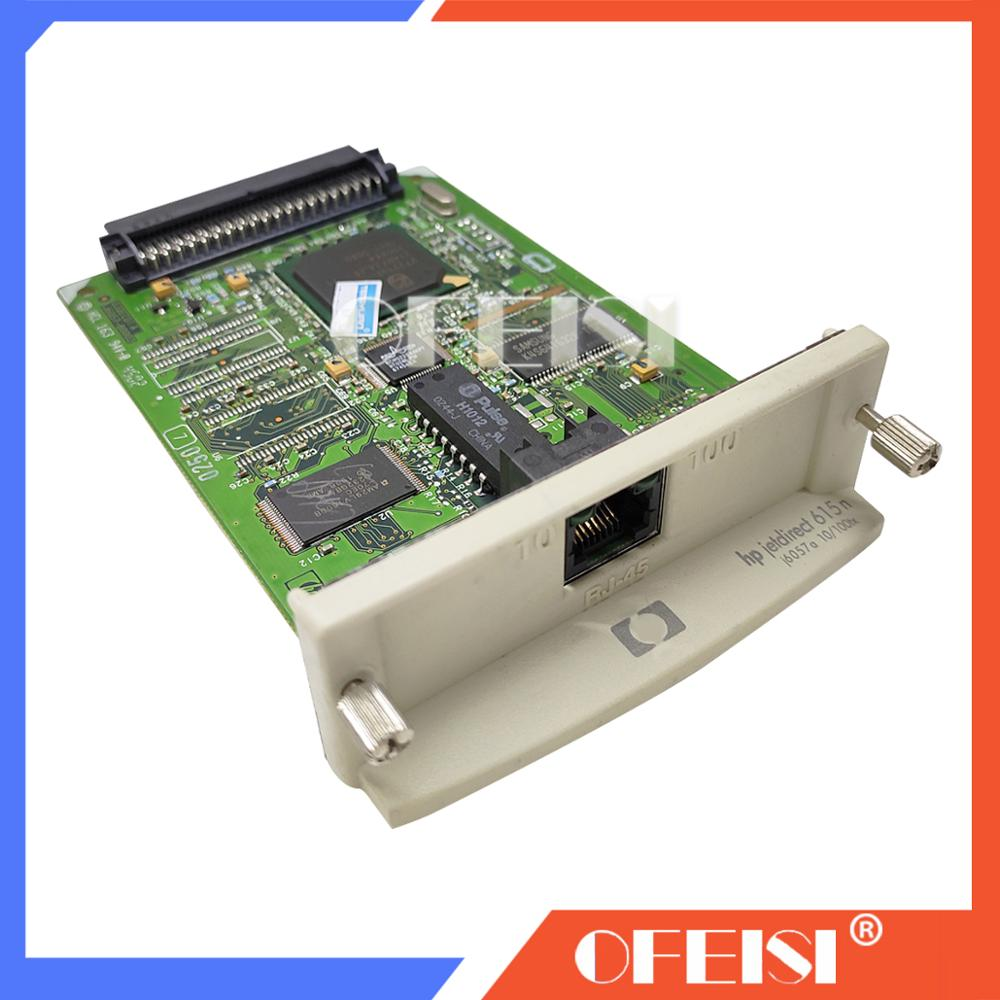 Placa de Rede do Servidor de Impressão Interno e Impressora Original Novo Jetdirect J6057a 10 – 100tx Ethernet Designjet Plotter Impressora 95% 615n