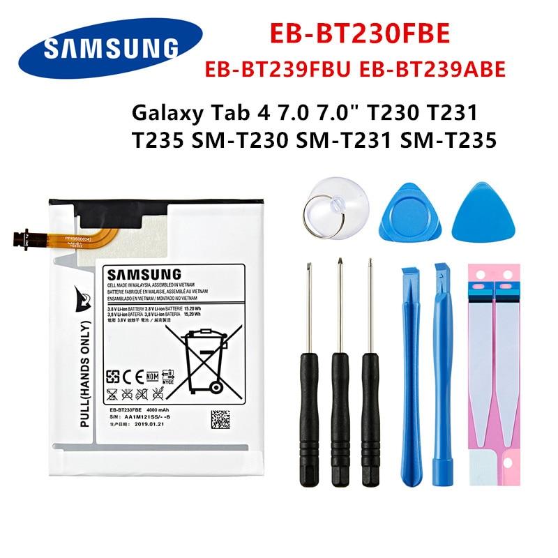 "SAMSUNG original Tablet EB-BT230FBE EB-BT239FBU EB-BT239ABE 4000mAh batería para Samsung Galaxy Tab 4 7,0 ""SM-T230/T231/T235 + herramientas"
