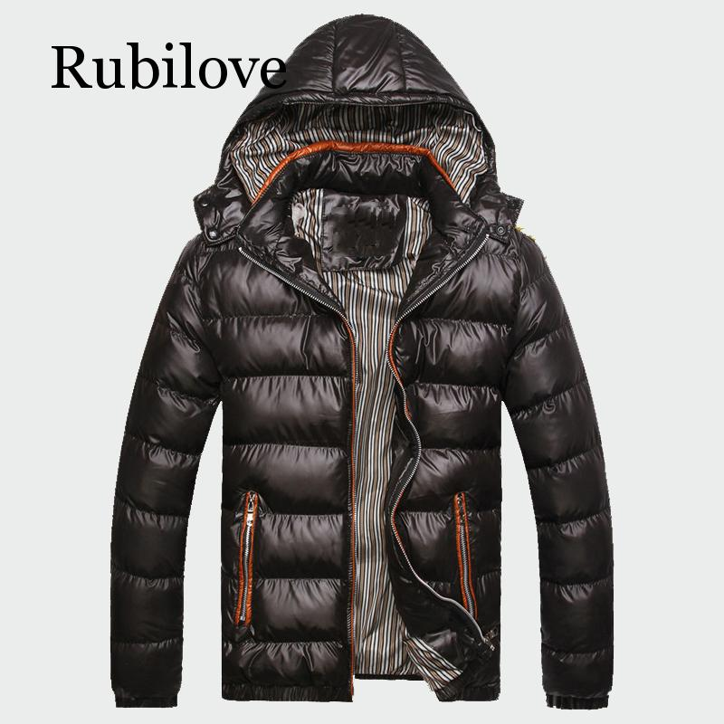 Rubilove 2019 зимние мужские пальто, теплые толстые мужские куртки, мягкие повседневные мужские парки с капюшоном, мужские пальто, брендовая одеж...