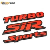 1x car refires personalized car stickers worm gear turbo emblem sports sir sport metal car stickers car styling