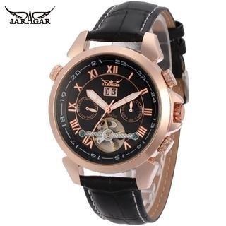 Fully Automatic Mechanical Watch Week Calendar Transparent Men's Belt Watch New Fashion Механические Часы enlarge