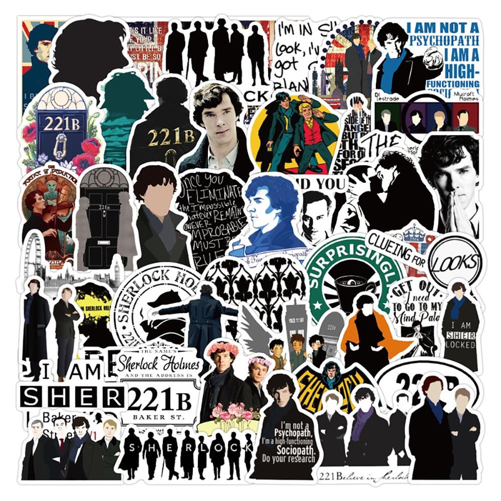 Наклейки Шерлок граффити для ТВ-шоу, 10/30/50 шт., стикеры s, скейтборд, гитара, чемодан, морозильник, ноутбук, Классическая Игрушка, крутые наклей...