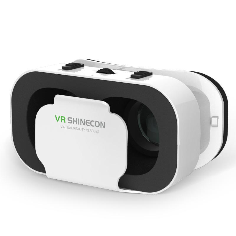Óculos vr shinecon g05a 3d, headset vr de realidade virtual para smartphones android e ios caixa de óculos 3d