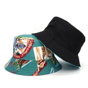 2021 Cotton four seasons Print Bucket Hat Fisherman Hat Outdoor Travel Hat Sun Cap Hats for Men and Women 392