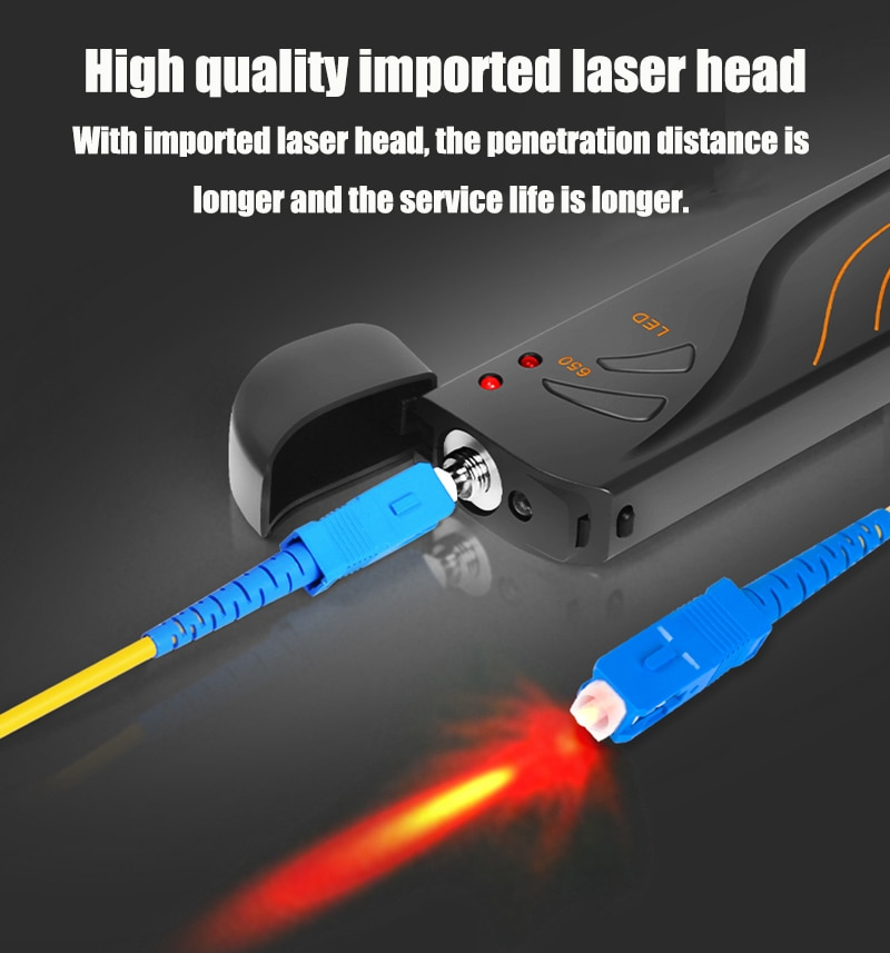Localizador Visual de fallos FTTH, fibra óptica, probador de Cable, fibra óptica...