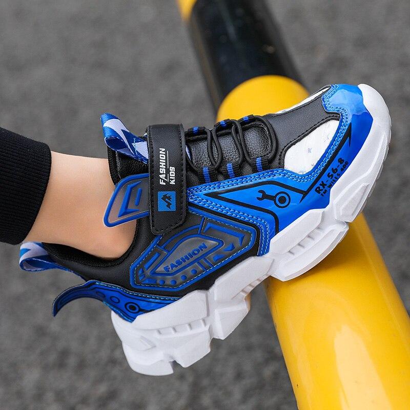 Спортивные детские кроссовки из ПУ кожи, Нескользящие модные кроссовки, повседневная обувь для мальчиков, детские кроссовки, обувь для дево...