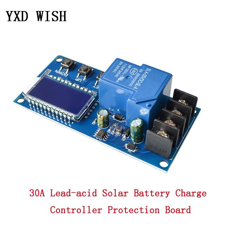 6-60V 30A batería Solar de plomo-ácido Carga Protección de controlador cargador de la placa interruptor de tiempo 24v DC 12v 36v 48v capacidad de la batería