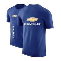 summer chevrolet s mens car logo sports shirt comfortable o neck clothing harajuku print plus size casual top polo shirt