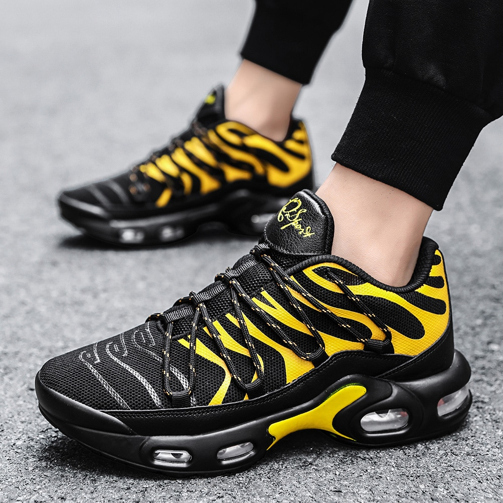 New men's full palm cushioned running shoes, youth outdoor sports shoes, fashionable vertical and horizontal training shoes